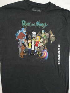 fcc4c7c1 Rick and Morty Cast Barbecue BBQ Adult Swim Cartoon T-Shirt   eBay