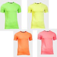 angesagte  NEON T-SHIRT Shirts  S M L XL  4 Farben Damen Herren unixex   NEU