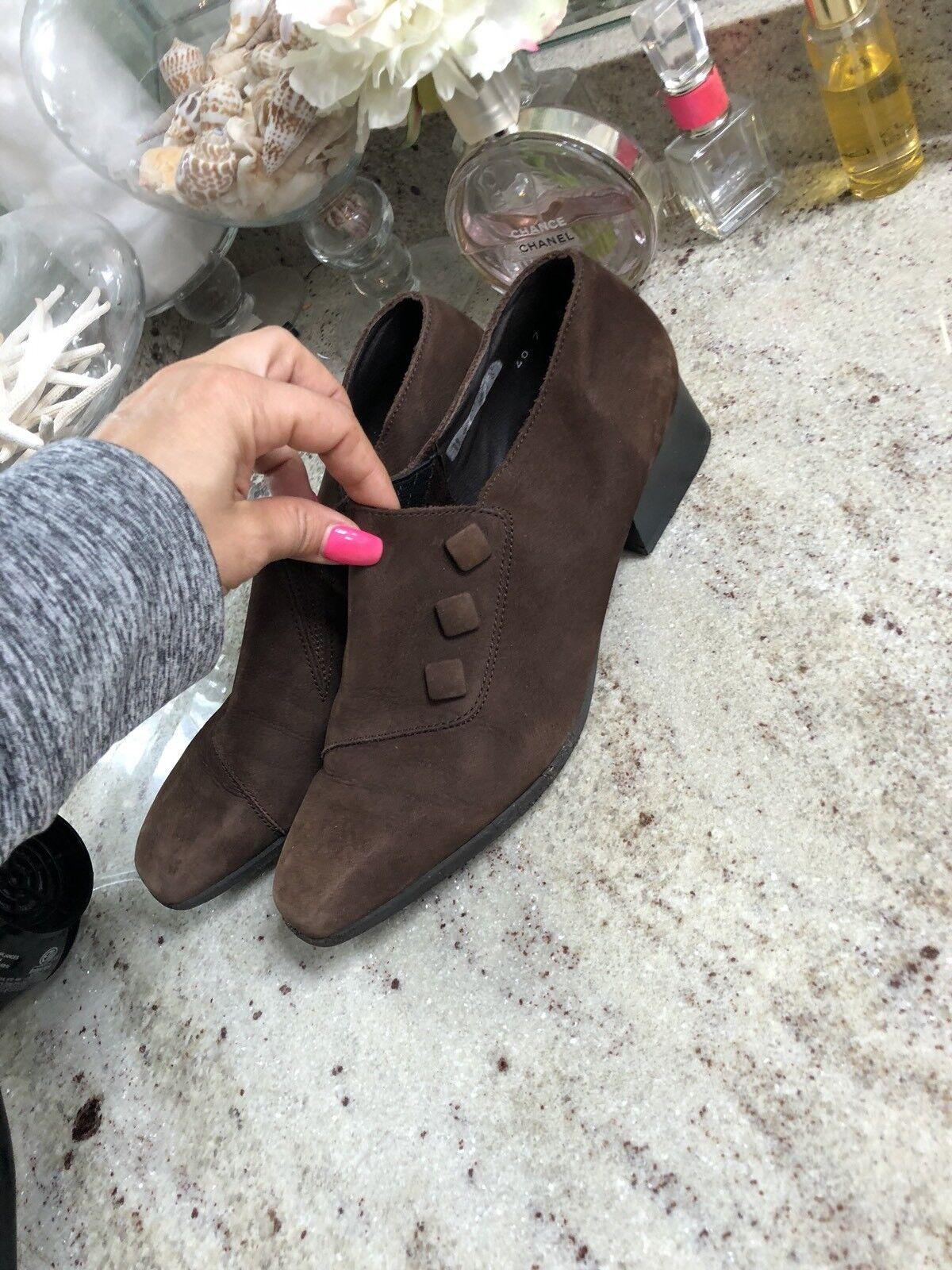 Arche Francia Nubuck Marrón para Mujer Cuña Tacón Bajo Tobillo botas Zip 40 9 ()