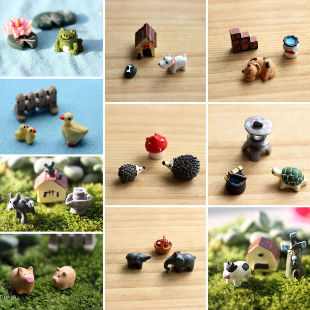 3pc Miniature Dollhouse Bonsai Craft Garden Ornament For Plant Pots Fairy Garden