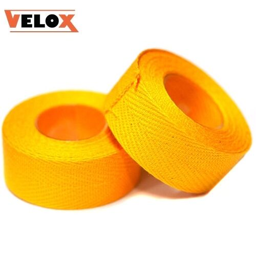 x2 Rolls of Velox Tressosrex Cloth Handlebar Tape Black Blue Red White Yellow
