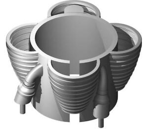 ACCUR8-1-72-Saturn-IB-First-Stage-3D-Printed-H-1-Core-Engines-for-24mm-Motors