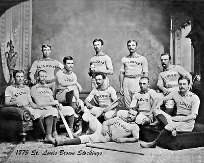 1875 St. Louis Brown Stockings Photo 8X10 - Browns  Buy Any 2 Get 1 FREE