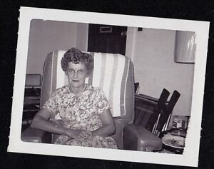 Antique-Vintage-Photograph-Older-Woman-Sitting-in-Chair-in-Retro-Room