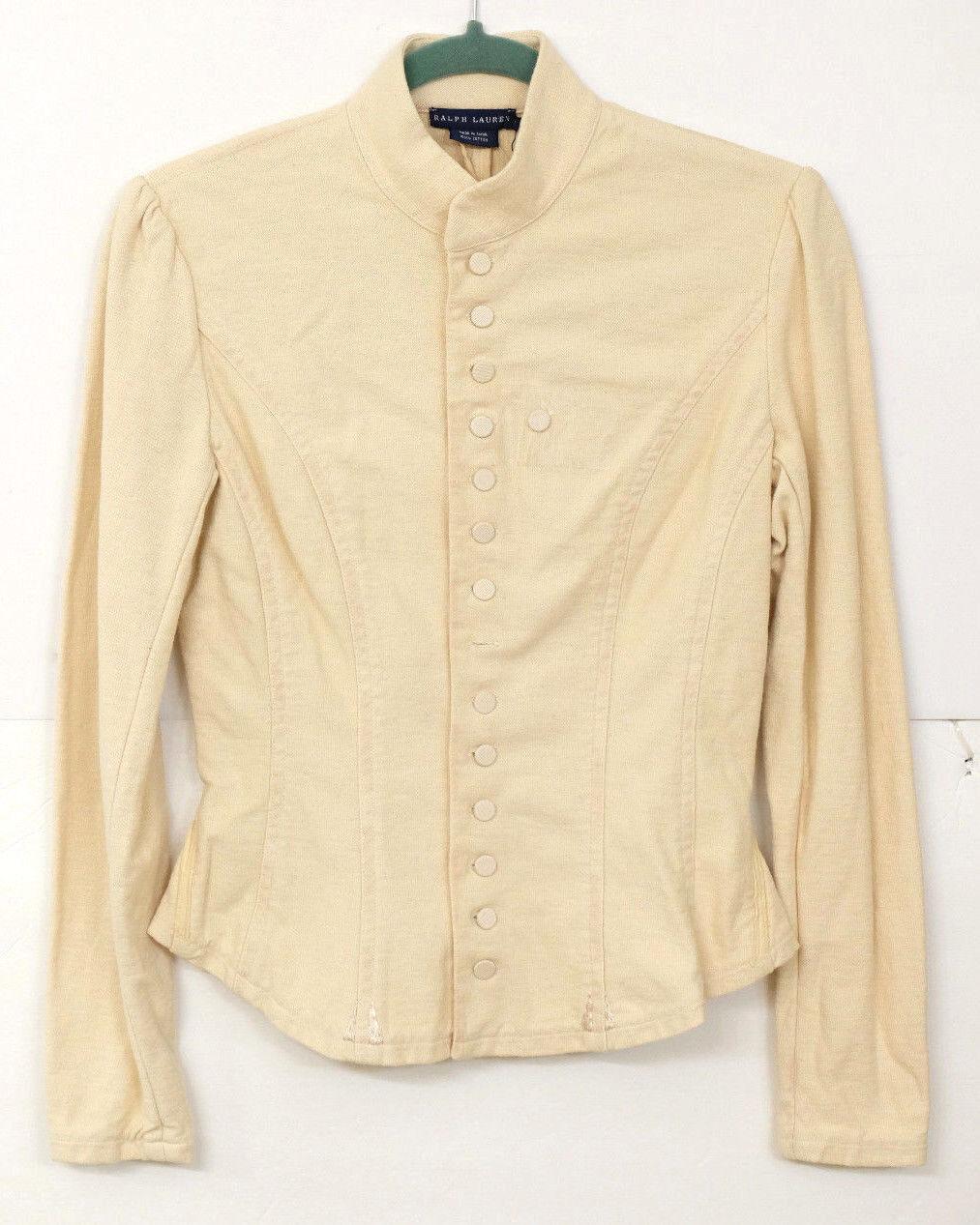NWT Ralph Lauren bluee Label Women's Size M Long Sleeve Cotton Blazer  MS