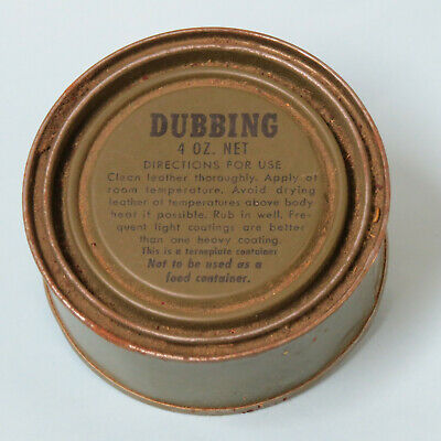 ORIGINAL NOS WWII 1 1//2 OUNCE CAN OF SHOE DUBBING