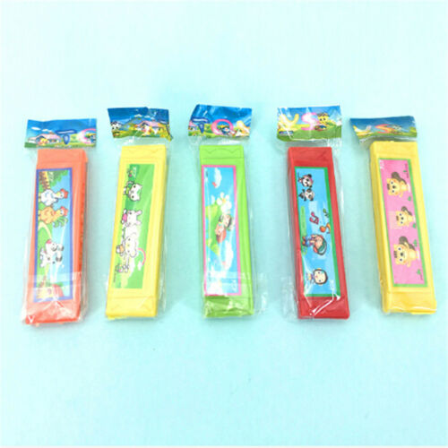 Kid Cute Cartoon Plastic Harmonica Toy Fun Musical Early Educational Gift Toy LY