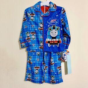 AME Toddler Boys Thomas the Train Joy Engine Pajamas Button Up Shirt Pants