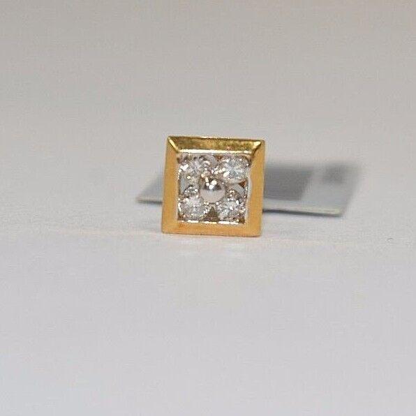 4071- PRETTY 14K YELLOW gold DIAMOND FLOWER DESIGN PENDANT 0.10CTS 0.43GRAMS