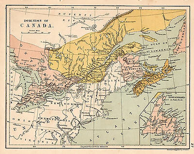 Map Of Canada 1900.Map Of Canada Circa 1900 Original Antique Ebay