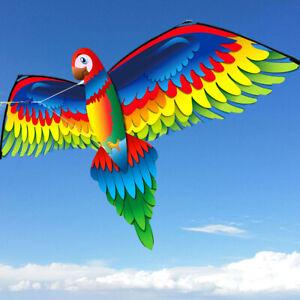 New-3D-Single-Line-parrot-Kites-Outdoor-Fun-Sports-Beach-Single-Line-Kite-GREEN
