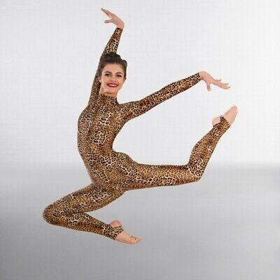 NEW 1st Position Animal Leopard Print Dance Gymnastic Leotard 9-11 Years