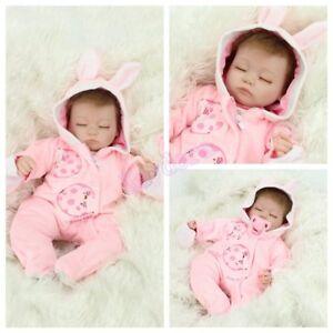 Handmade-Lifelike-Realistic-16-034-Sleeping-Newborn-Vinyl-Silicone-Reborn-Baby-Doll