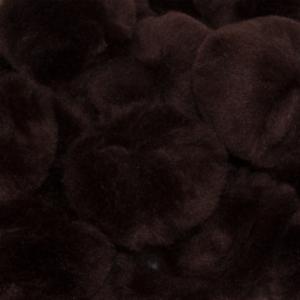 1.5 inch Black Craft Pom Poms 50 Pieces