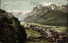 Engelberg  Obwalden Schweiz alte frankierte AK 1907 Gesamtansicht Panorama Berge