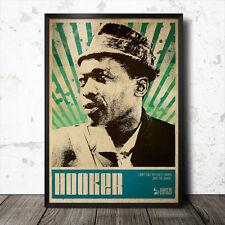 John Lee Hooker Blues Art Poster Lead Belly Muddy Waters  B.B. King Howlin' Wolf