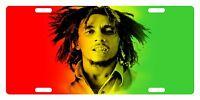 Rasta Flag Colors Custom License Plate Rastafarian Emblem Bob Version Iii