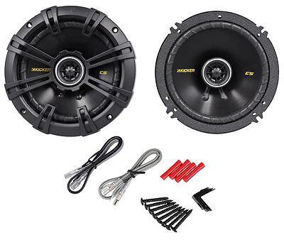 "Kicker 40CS654 CS65 6.5"" 6-1/2"" 300 Watt 4-Ohm 2-Way Car Audio Coaxial Speakers"