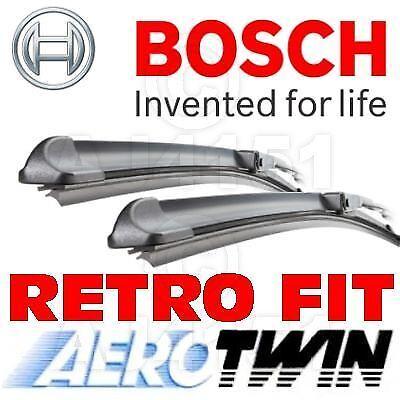 "FRONT NEW GENUINE BOSCH Retrofit AEROTWIN Windscreen Wiper Blades 21//19 /"""