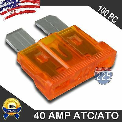50 Pack 40 AMP ATC//ATO STANDARD Regular FUSE BLADE 40A CAR TRUCK BOAT MARINE RV