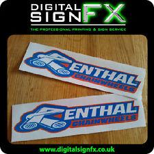 Renthal Chainwheels Motorbike Moto-X Vinyl Stickers Decals Graphic (x2) 215x50mm