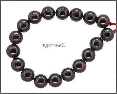 18 Red Garnet Round Beads 11mm #67095