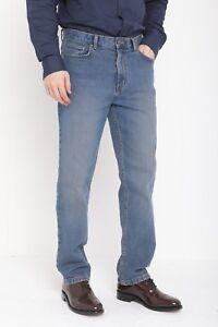 Hommes Ex M/&S Collection Jeans Coupe Slim Décontracté Noir Uni Marine Charbon