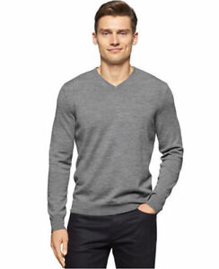 SALE-Calvin-Klein-Men-039-s-Merino-Wool-V-Neck-Sweater-VARIETY-Size-amp-Color-A12