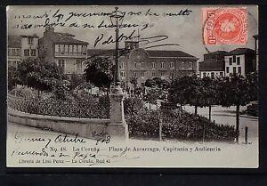 2710-LA-CORUNA-Plaza-de-Azcarraga-Capitania-y-Audiencia-Postal-Fotografia