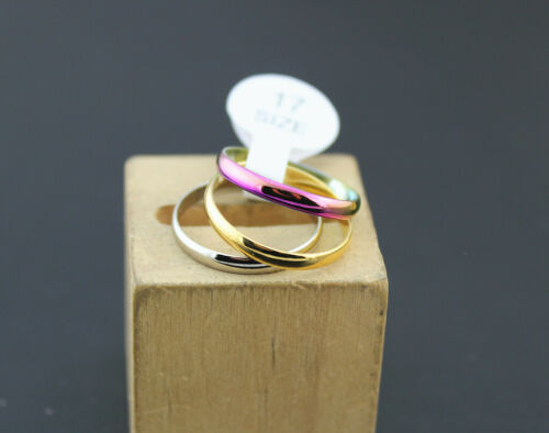 Wholesale Fashion Jewelry Lots 32pcs 3 In 1 Stainless Steel Women Lady/'s Rings