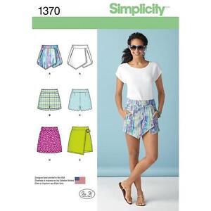 SIMPLICITY-SEWING-PATTERN-MISSES-039-SHORTS-SKORT-amp-SKIRT-SIZES-4-20-1370