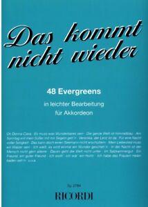 Akkordeon-Noten-Das-kommt-nicht-wieder-48-EVERGREENS-leicht-SY-2784