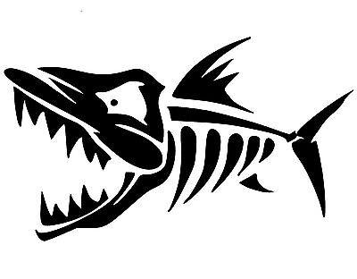 SKELETON FISH SCARY DECAL STICKER CAR TRUCK CHEVY FORD HONDA VW DODGE MAZDA JDM