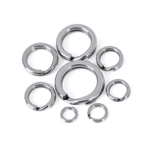 50pcs Stainless steel fishing split ring for blank lures circle loop connectorFB