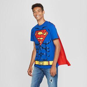 Men&#039;s DC Comics Superman Caped Short Sleeve T-Shirt~Hallow<wbr/>een/Cosplay Costume