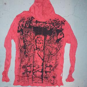 New-Men-Yoga-shirt-hoodie-Yoga-Mediation-Buddha-Sure-om-M-HIPPIE-COTTON-buy