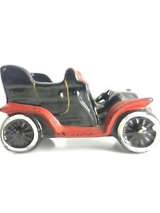 Vintage-Christmas-Season-Car-Planter-Rubens-Originals-Japan-790-Red-Black
