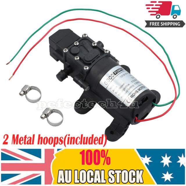 DC 12V 130PSI High Pressure Micro Diaphragm Water Pump Automatic Switch 6L/min