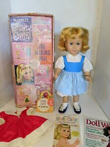 Vintage-1960-039-s-Ideal-Mattel-Chatty-Cathy-Doll-First-Ed-Original-Box-amp-Outfit