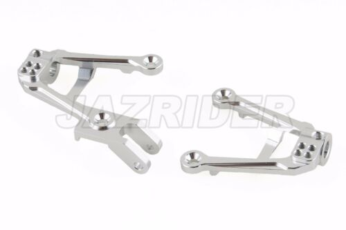 For Axial SCX10 II Jazrider Aluminum Front Shock Damper Tower Mount Hoops Silver