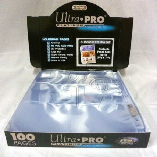 400 ULTRA PRO PLATINUM 2-POCKET Pages 5 x 7 Sheets Protectors Brand New in Box