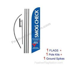 Smog Check Inspection Repair 15' Feather Banner Swooper Flag Kit with pole+spike