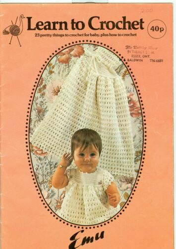 Learn To Crochet Baby Clothes Pattern Book 23 Pretty Things To Crochet For Baby