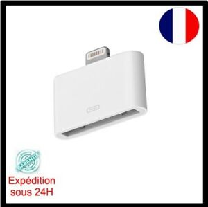 Adaptateur-30-broches-vers-8-broches-Blanc-pour-iPhone-4-4s-vers-iPhone-5-5C-5S