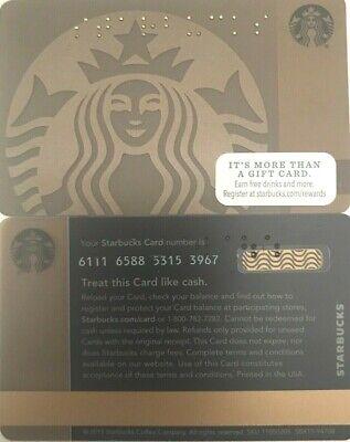 BRAILLE 2015 GIFT CARD BRONZE MERMAID NEW NO VALUE 6111 US STARBUCKS U.S