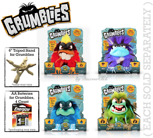 NEW-Pomsies-Grumblies-SCORCH-BOLT-HYDRO-TREMOR-Troll-Toy-AA-Batteries-or-Stand