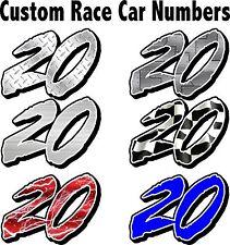RACE CAR NUMBERS Set #2, NUMBER, IMCA, STREET STOCK, MOD, DIRT SPRINT