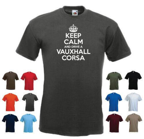 /'Keep Calm and Drive a Vauxhall Corsa/' Funny Mens Car t-shirt