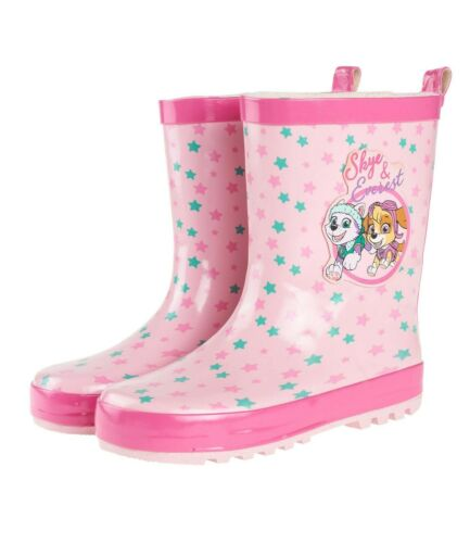 Robust Wasserdicht Regenstiefel Gummistiefel Mädchen Schuhe Paw Patrol 26-32 #G3