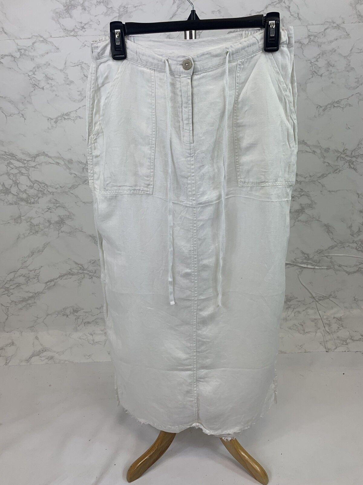 Free People Women's White Linen Maxi Skirt Size Small